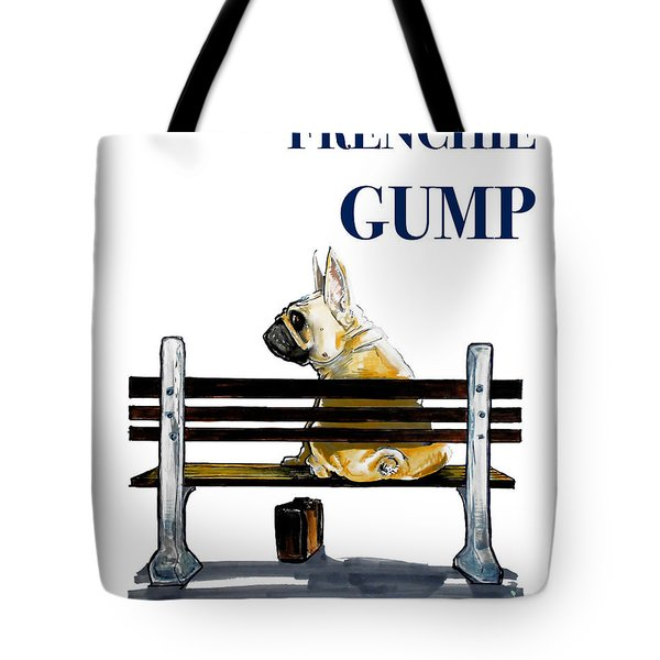 Forest Gump French Bulldog Caricature Art Print Tote Bag