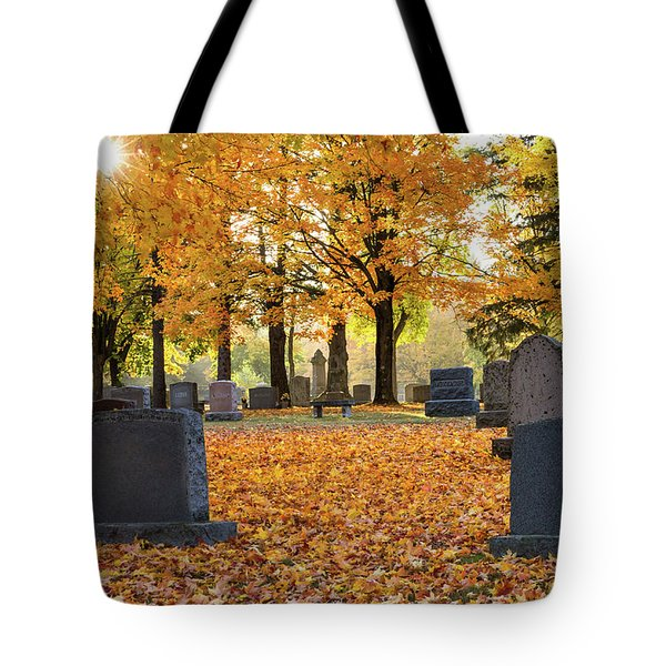 Forest Hill Autumn Morn Tote Bag