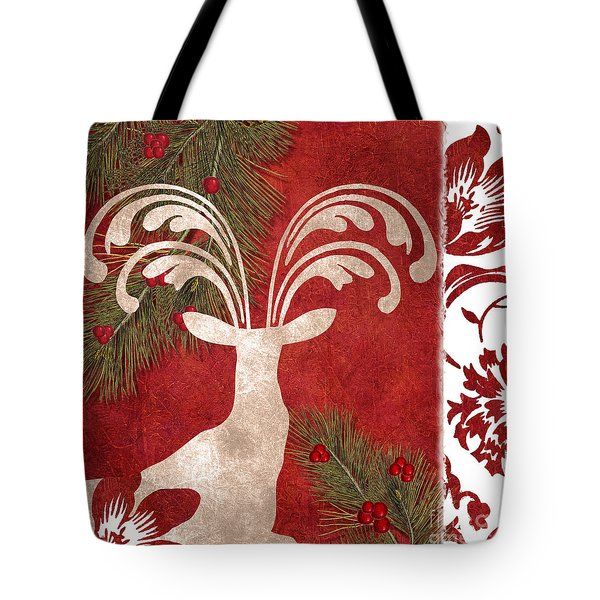 Forest Holiday Christmas Deer Tote Bag