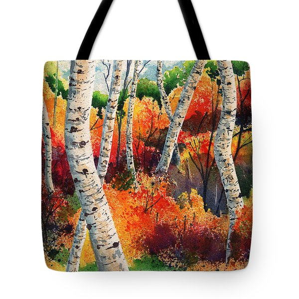 Forest In Color Tote Bag