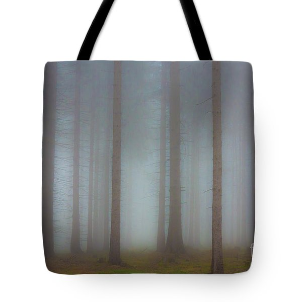 Forest In The Fog Tote Bag by Michal Boubin