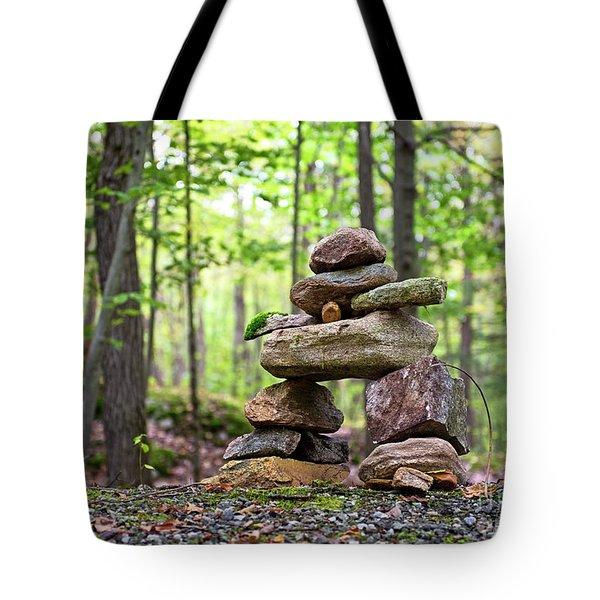 Forest Inukshuk Tote Bag