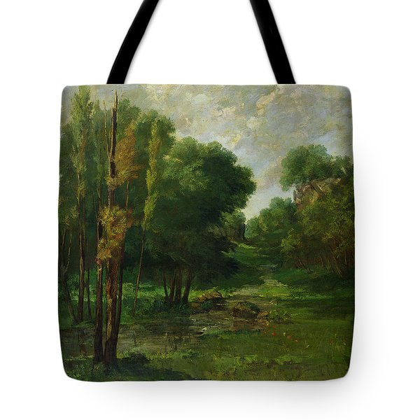 Forest Landscape Tote Bag by Gustave Courbet