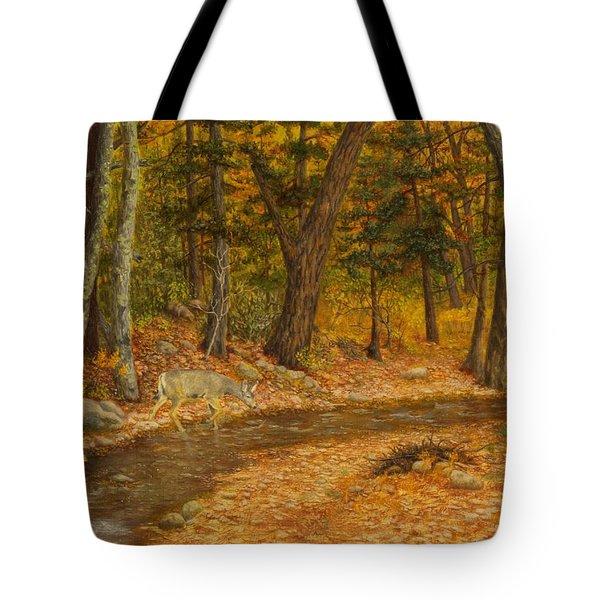 Tote Bag featuring the painting Forest Life by Roena King