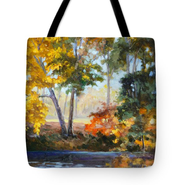 Forest Park - Autumn Reflections Tote Bag by Irek Szelag