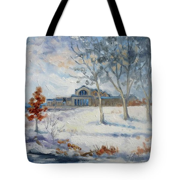 Forest Park Winter Tote Bag by Irek Szelag