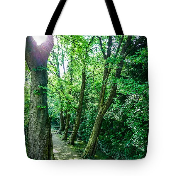 Tote Bag featuring the photograph Forest Path by Bee-Bee Deigner
