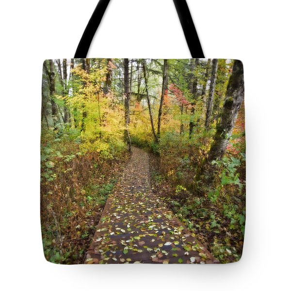 Forest Path Tote Bag by Bonnie Bruno