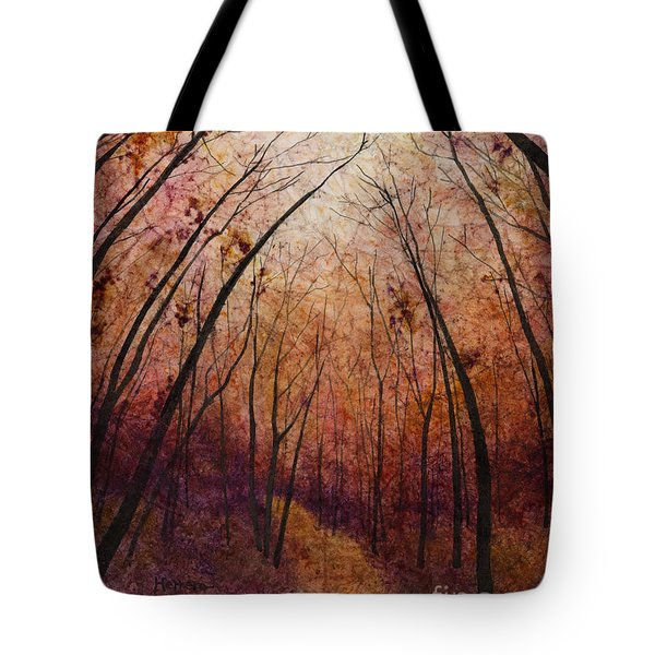 Tote Bag featuring the painting Forest Path by Hailey E Herrera
