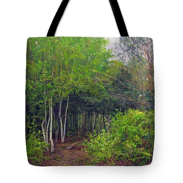 Forest Path Leading Into The Forest Tote Bag