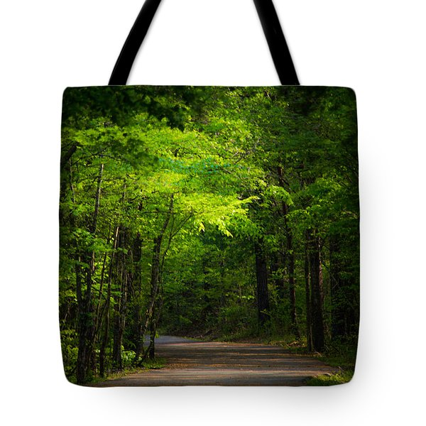 Forest Path Tote Bag by Parker Cunningham
