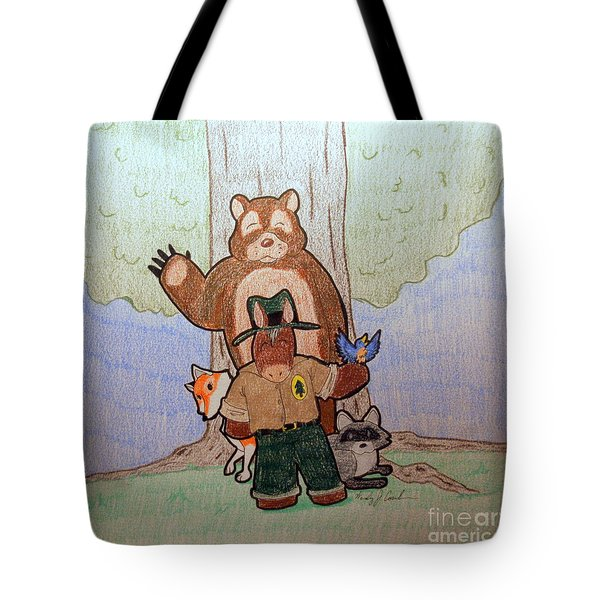 Forest Ranger Pony And Friends Tote Bag