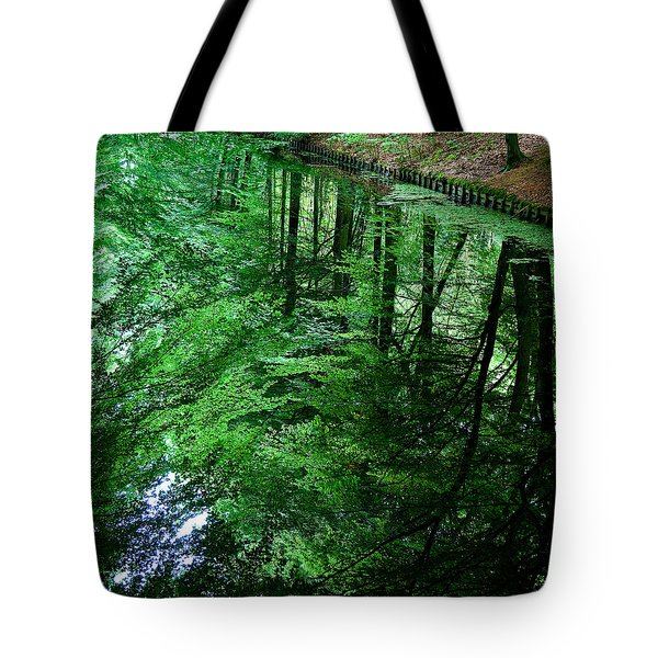 Forest Reflection Tote Bag by Dave Bowman