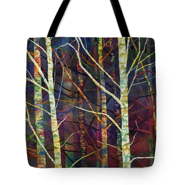 Tote Bag featuring the painting Forest Rhythm by Hailey E Herrera