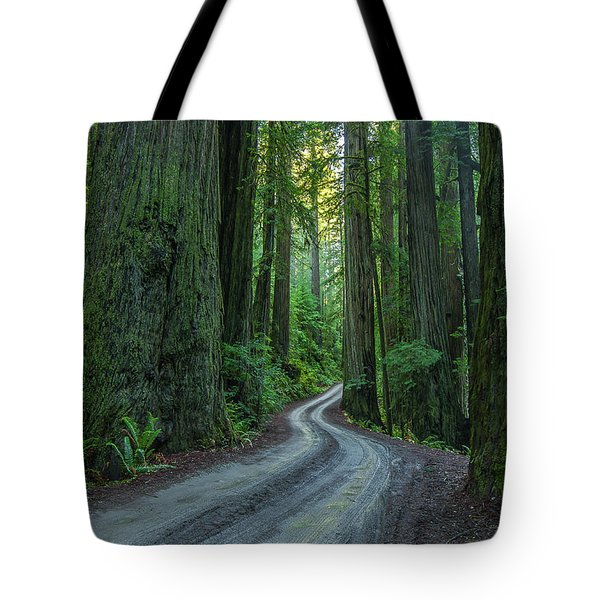 Forest Road. Tote Bag by Ulrich Burkhalter