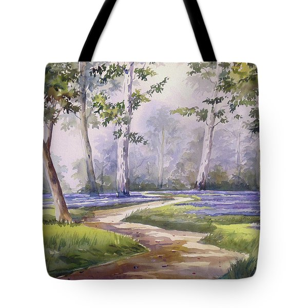 Tote Bag featuring the painting Forest  by Samiran Sarkar