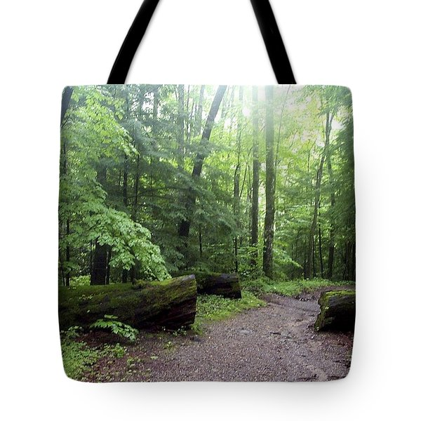 Forest Setting Smoky Mountains National Park Tote Bag