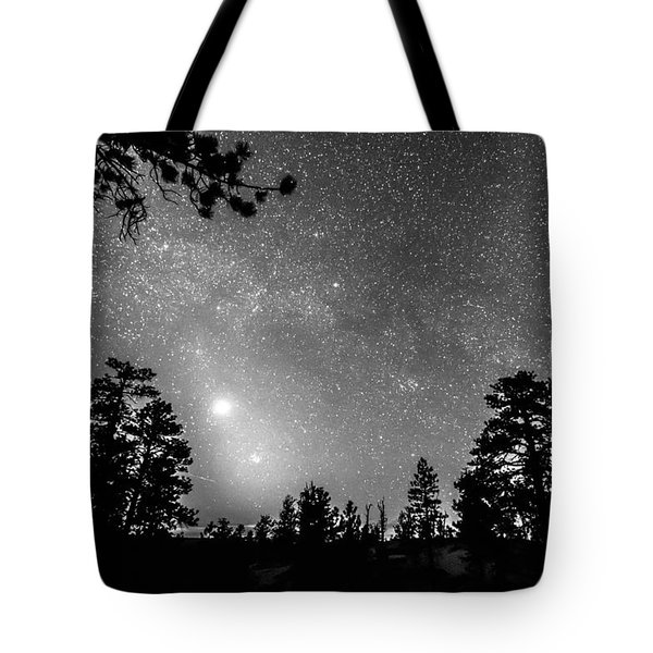 Forest Silhouettes Constellation Astronomy Gazing Tote Bag by James BO  Insogna