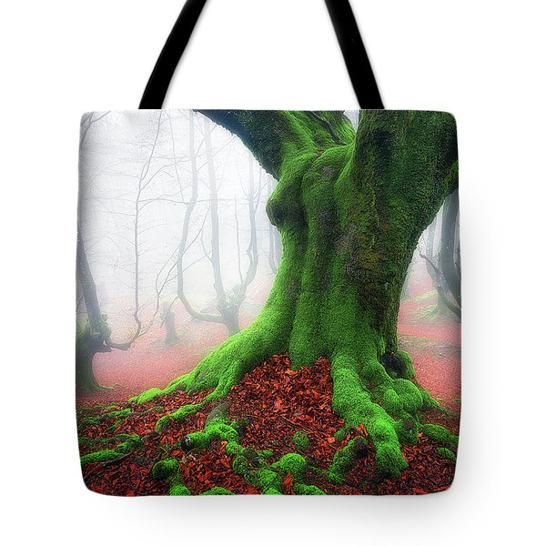 Forest Speeches Tote Bag