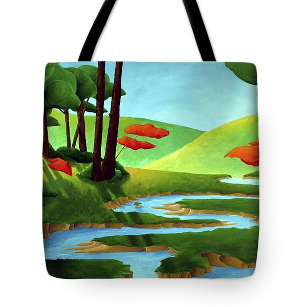 Forest Stream - Through The Forest Series Tote Bag by Richard Hoedl