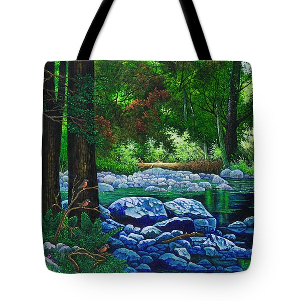 Forest Stream Tote Bag by Michael Frank