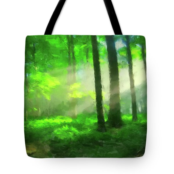 Forest Sunlight Tote Bag by Gary Grayson