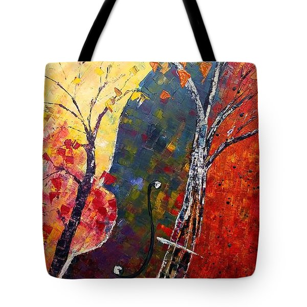 Forest Symphony Tote Bag by AmaS Art