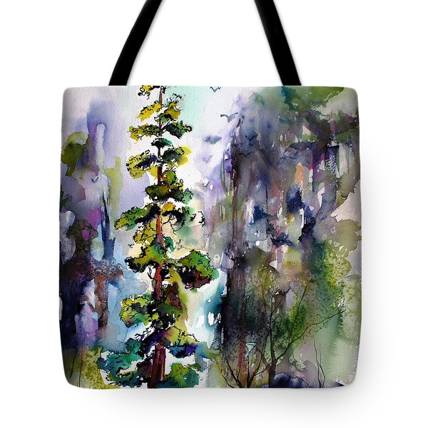 Forest With Redwood Trees Tote Bag