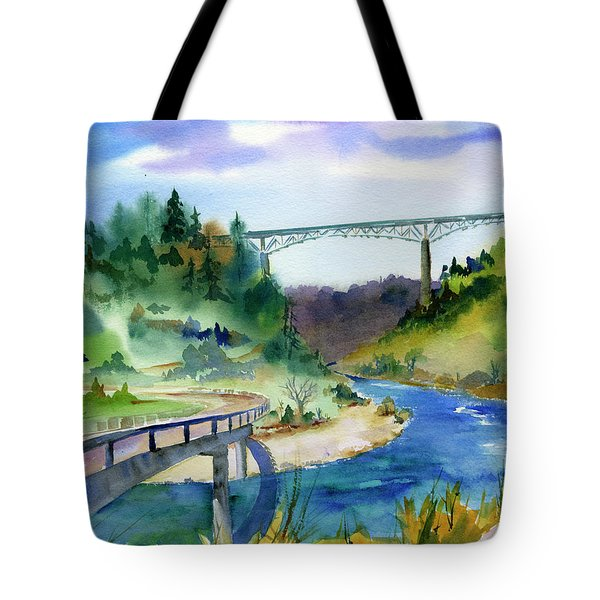 Foresthill Bridge #2 Tote Bag