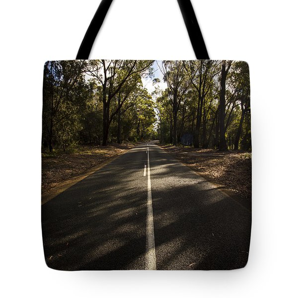 Tote Bag featuring the photograph Forestry Road Landscape by Jorgo Photography - Wall Art Gallery