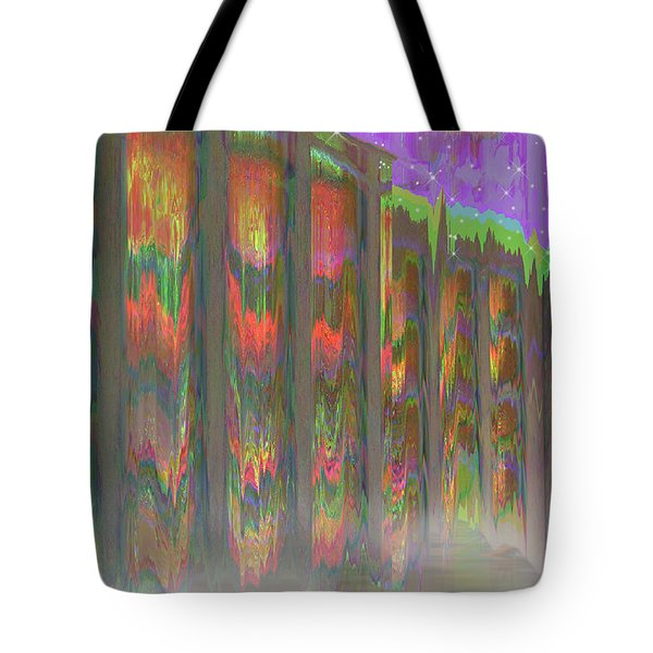 Tote Bag featuring the digital art Forests Of The Night by Wendy J St Christopher
