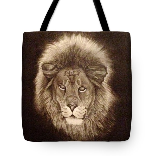 Tote Bag featuring the painting Forever A King by Elizabeth Mundaden