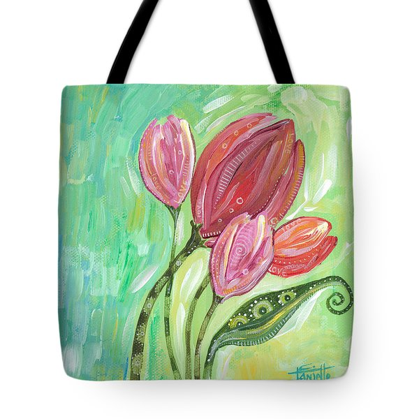 Tote Bag featuring the painting Forever In Bloom by Tanielle Childers