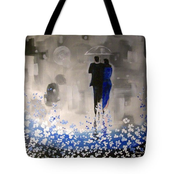 Tote Bag featuring the painting Forever Love by Raymond Doward