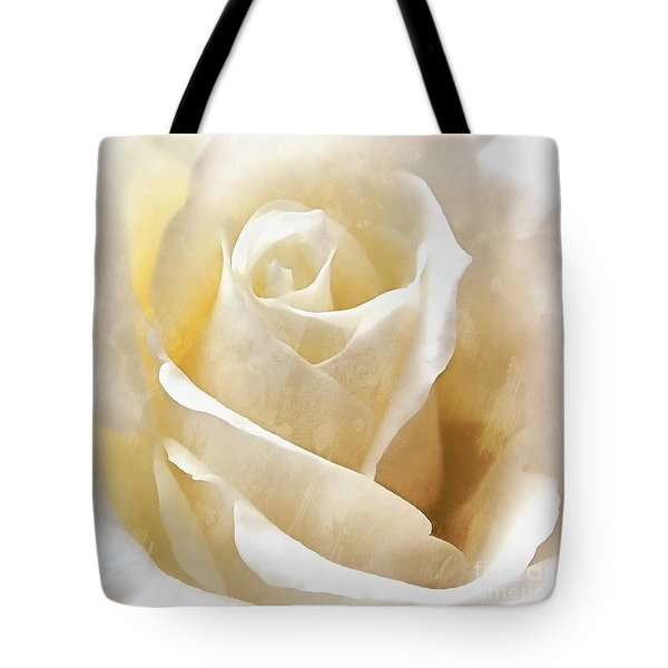 Tote Bag featuring the photograph Forever More - Ivory Rose by Janine Riley