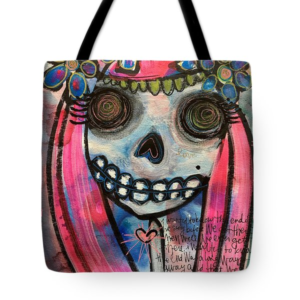 Tote Bag featuring the painting Forever With You by Laurie Maves ART