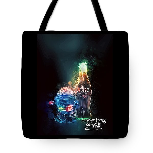 Tote Bag featuring the photograph Forever Young Coca-cola by James Sage
