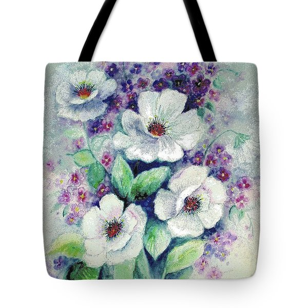 Forget-me-knots And Roses Tote Bag