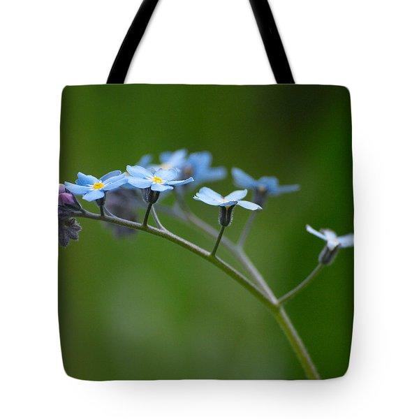 Forget-me-not 2 Tote Bag by Jouko Lehto