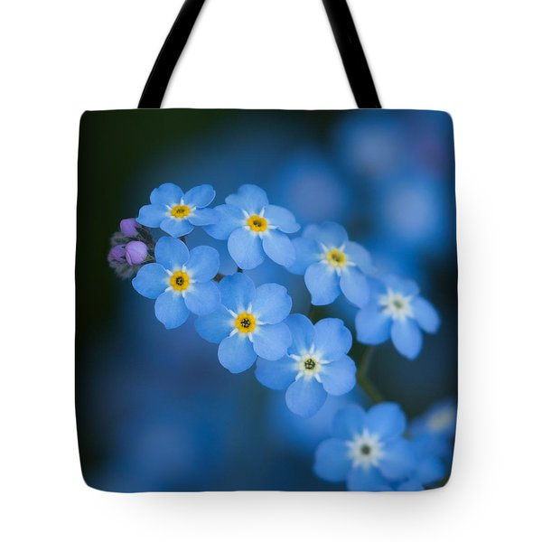 Forget Me Not Blues Tote Bag by Angie Vogel