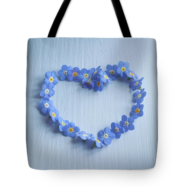 Forget Me Not Heart Tote Bag