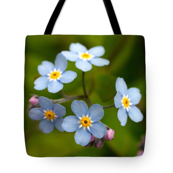 Forget-me-not Tote Bag by Jouko Lehto