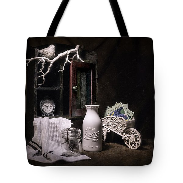 Forget Me Not Still Life Tote Bag
