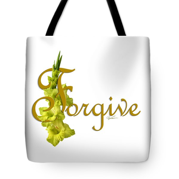 Tote Bag featuring the digital art Forgive by Ann Lauwers