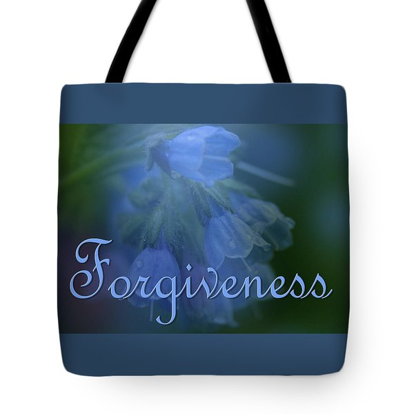 Forgiveness Blue Bells Tote Bag
