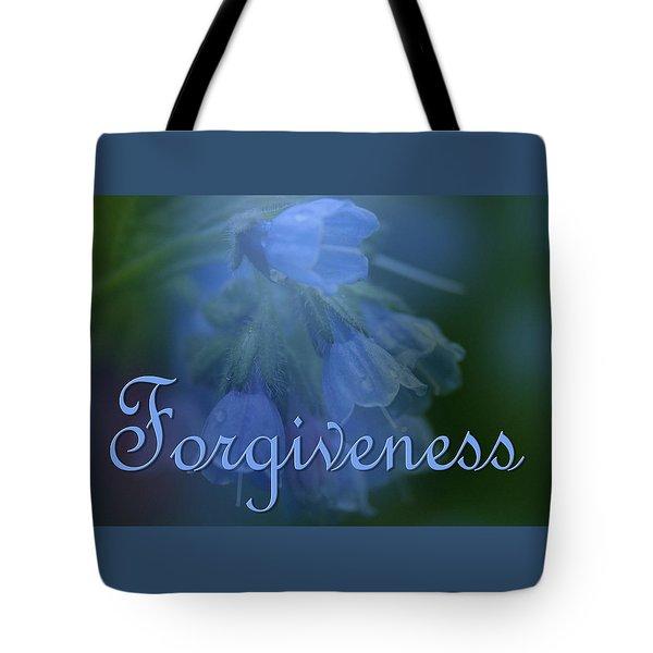Forgiveness Blue Bells Tote Bag