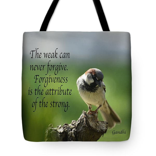 Forgiveness Tote Bag by Debby Pueschel