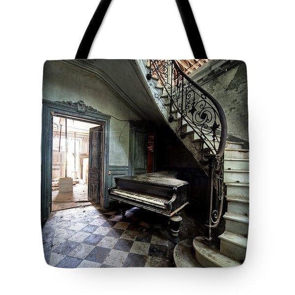 Forgotten Ancient Piano - Urban Exploration Tote Bag