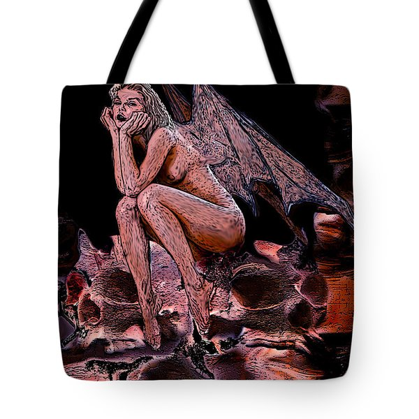 Forgotten Angel Tote Bag by Tbone Oliver