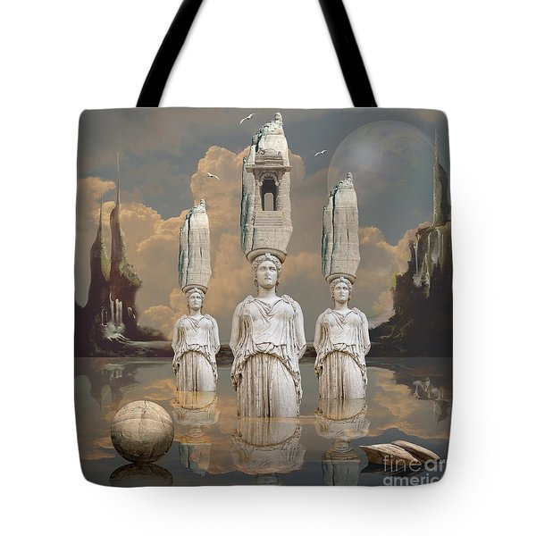 Tote Bag featuring the digital art Forgotten Atlantis by Alexa Szlavics